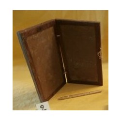"Tablette de cire double en noyer ""CODICE"" - Stylet Bronze"
